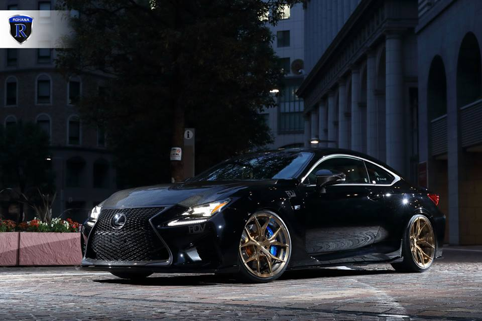 Lexus Rcf Coupe On 20 Zoll Rohanna Rxf5 Wheels In Matte Bronze