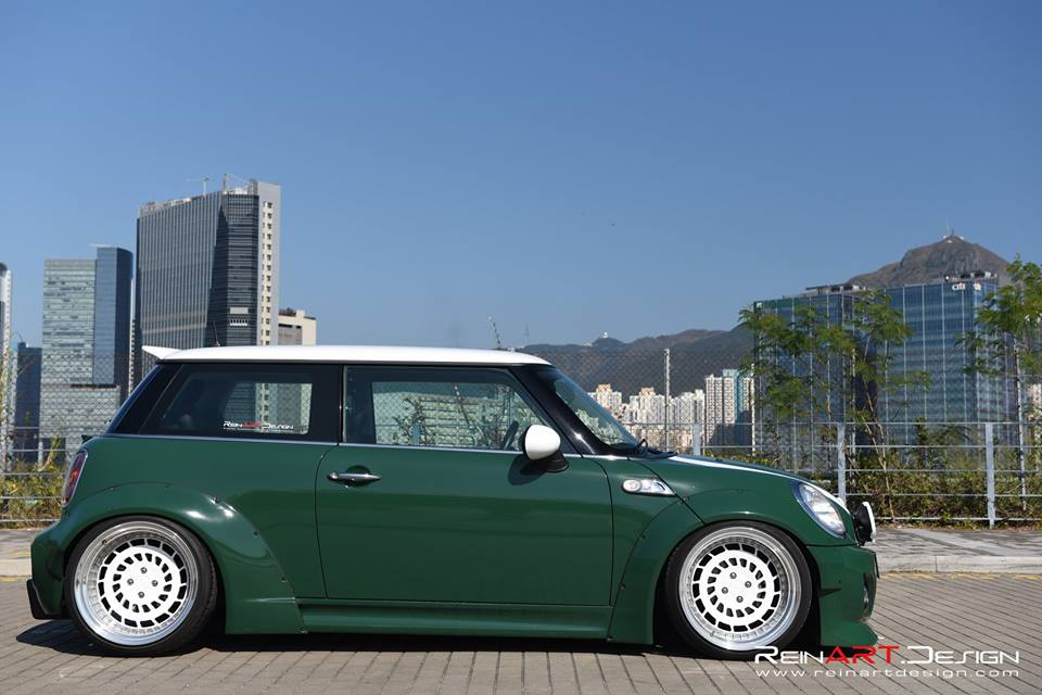 Mini Cooper S Liberty Widebody Rotiform CCV Tuning 4 Widebody Mini Cooper S auf 18 Zoll Rotiform CCV Alu's