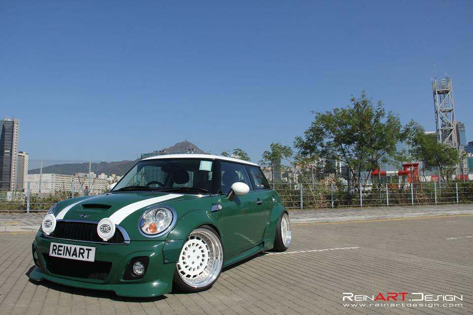 Mini Cooper S Liberty Widebody Rotiform CCV Tuning 8 Widebody Mini Cooper S auf 18 Zoll Rotiform CCV Alu's