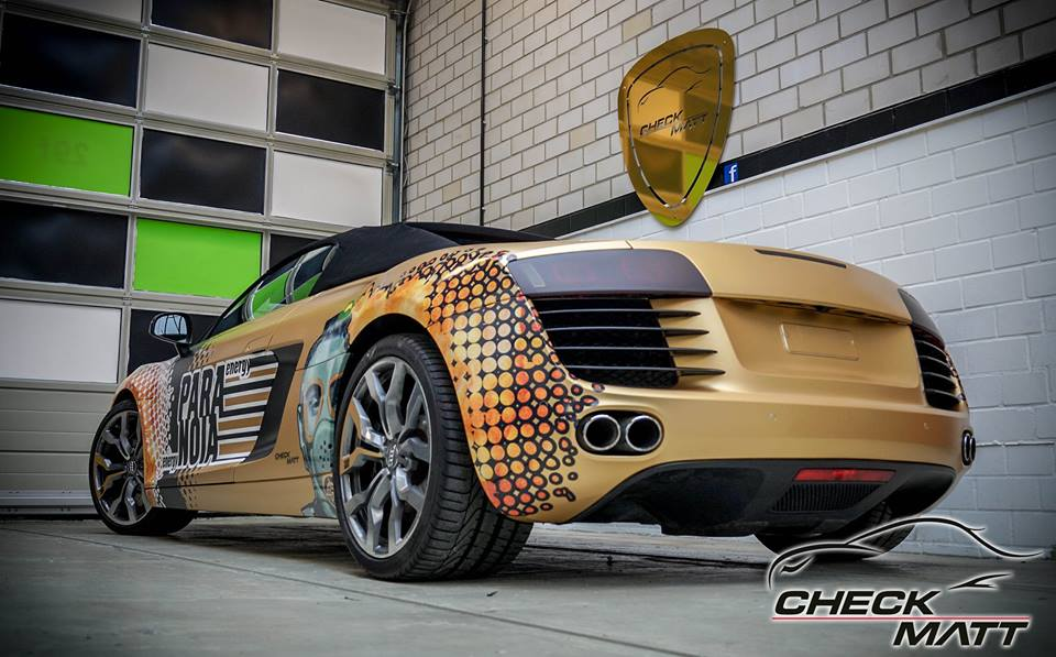 Paranoia Energy Drink Audi R8 V8 Folierung 4 Paranoia Energy Drink   Audi R8 by Check Matt Dortmund