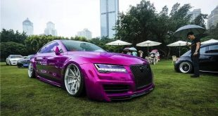 Pink Audi A7 S7 Widebody tuning 310x165 Widebody Audi A7 S7 in Pink mit Facelift Scheinwerfern