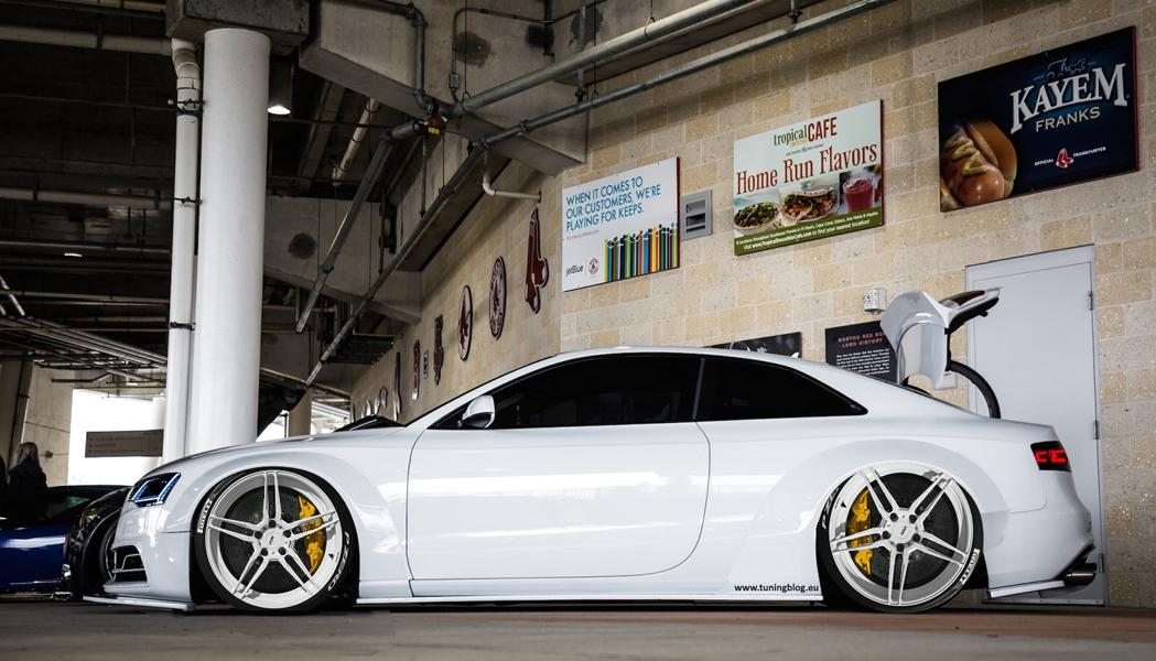 Widebody Audi A5 RS5 Coupe ADV.1 Wheels Tuning Widebody Audi A5 RS5 Coupe auf weißen ADV.1 Wheels