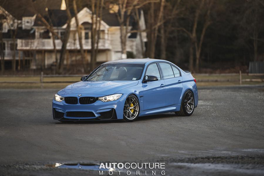 Yas Marina Blue BMW M3 F80 BBS Carbon Fiber StopTech Tuning 5 AUTOcouture Motoring BMW M3 F80 in Yas Marina Blau