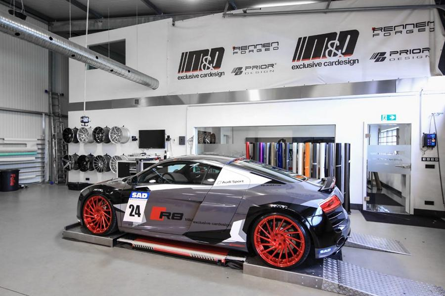 Audi R8 V10 Folierung LMS Tuning Rennen Forged 8 M&D exclusive cardesign   Audi R8 V10 im LMS Cup Style