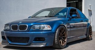 BMW E46 M3 Mysticblau Volk Racing ZE40 Tuning 310x165 Heftig   Widebody BMW E46 M3 auf CCW Wheels in Phoenixgelb