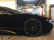 BMW i8 Velvet Black Folierung Lexani Wriath Tuning 5 190x143 Video: BMW i8 von Austin Mahone mit Velvet Folierung in Schwarz