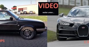 Boba Motorging VW Golf Mk2 Bugatti Chiron 310x165 Video: Boba Motoring VW Golf MK2 mit 1.200PS vs. Bugatti Chiron & Co.