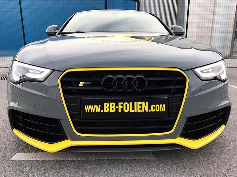 folierung audi a5 s5 coupe grau gelb schwarz tuning 16 magazin. Black Bedroom Furniture Sets. Home Design Ideas