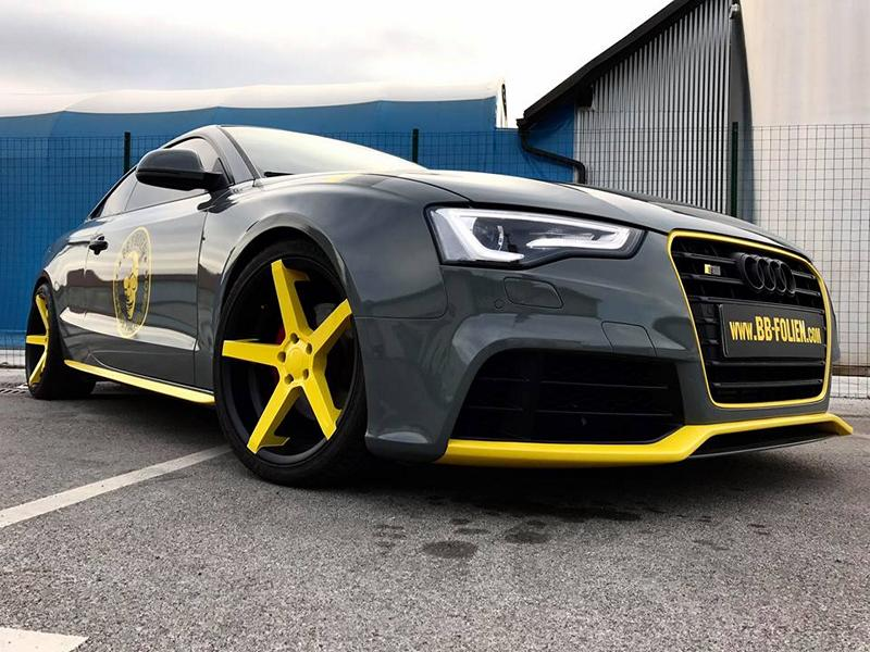Tuning Folierung Audi Coupe A5 S5 Gris Negro Amarillo 33