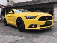 Ford Mustang LAE Tuning Oxigin 18 Felgen 2 190x143 Ford Mustang LAE in Gelb auf schwarzen Oxigin 18 Felgen