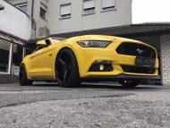 Ford Mustang LAE Tuning Oxigin 18 Felgen 3 190x143 Ford Mustang LAE in Gelb auf schwarzen Oxigin 18 Felgen