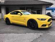 Ford Mustang LAE Tuning Oxigin 18 Felgen 4 190x143 Ford Mustang LAE in Gelb auf schwarzen Oxigin 18 Felgen