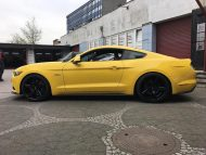 Ford Mustang LAE Tuning Oxigin 18 Felgen 9 190x143 Ford Mustang LAE in Gelb auf schwarzen Oxigin 18 Felgen