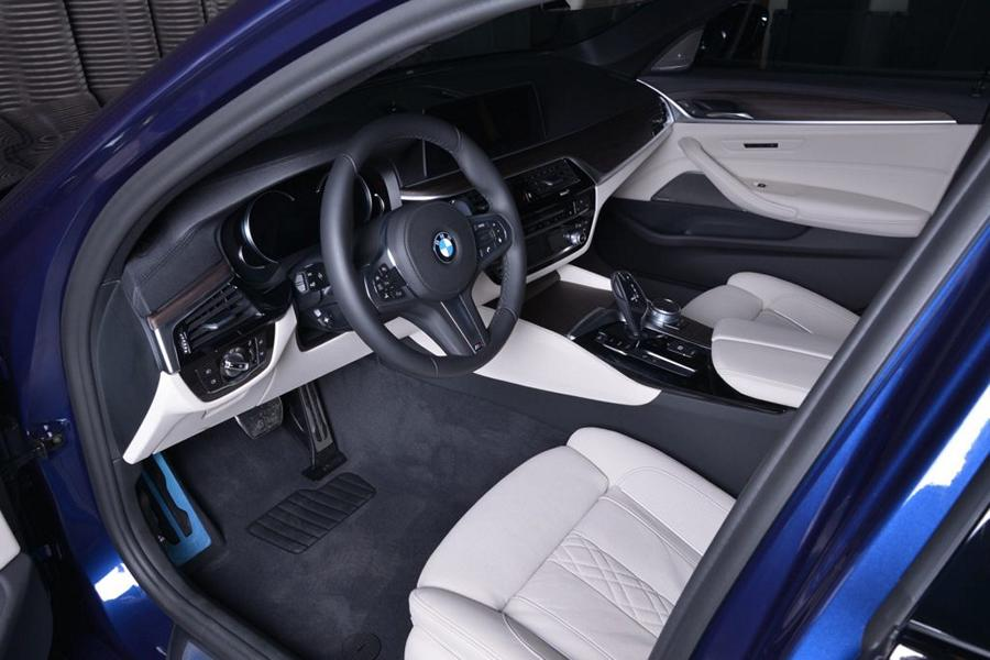 Interior Bmw 5er G30 M Performance Mediterranean Blue Tuning 2017 6