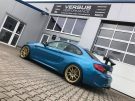 KW Variante 3 Chiptuning BBS 10.00x19 BMW M2 F87 Coupe Tuning 13 135x101 KW Variante 3 & goldene BBS Alu's am BMW M2 F87 Coupe