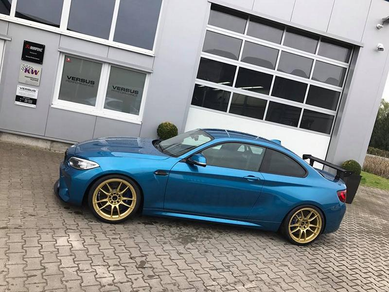 KW Variante 3 Chiptuning BBS 10.00x19 BMW M2 F87 Coupe Tuning 9 KW Variante 3 & goldene BBS Alu's am BMW M2 F87 Coupe