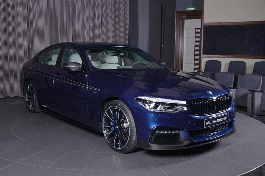 m performance parts am bmw 5er g30 in mediterran blau. Black Bedroom Furniture Sets. Home Design Ideas