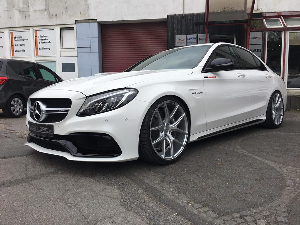 Mercedes Amg C63 W205 20 Inch Zp09 Kw Springs Tuning 5