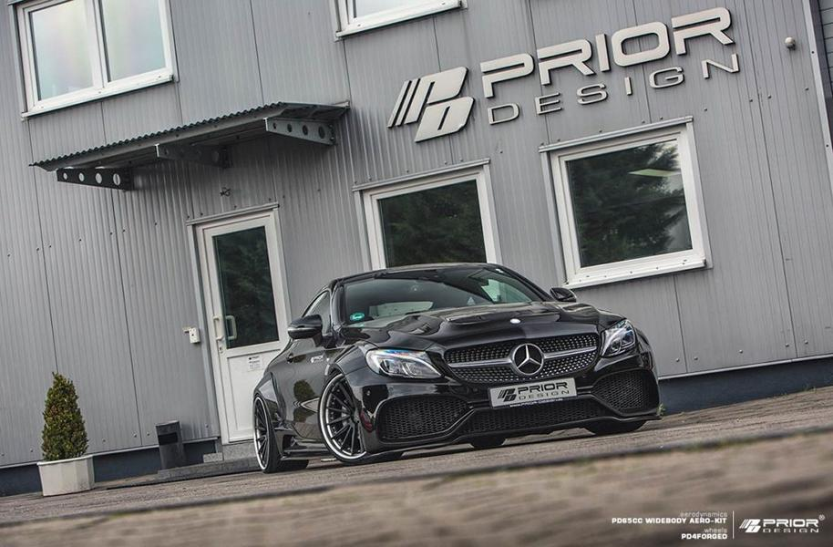 PD65CC Widebody Aerodynamik Kit Mercedes C205 Coupe Tuning 2017 Prior Design 13 PD65CC Widebody Aerodynamik Kit am Mercedes C205 Coupe