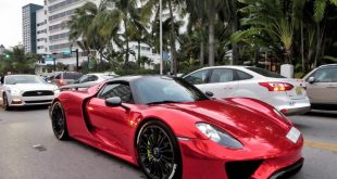 Porsche 918 Spyder Folierung Chrom Rot Tuning 10 310x165 Highlight: Porsche 918 Spyder mit Folierung in Chrom Rot