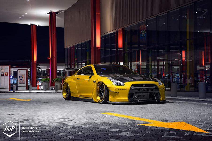 Rocket Bunny Nissan GT R ADV.1 Wheels Tuning 14 Rocket Bunny Widebody Kit am Nissan GT R auf ADV.1 Wheels