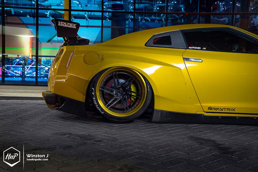 Rocket Bunny Nissan GT R ADV.1 Wheels Tuning 8 Rocket Bunny Widebody Kit am Nissan GT R auf ADV.1 Wheels