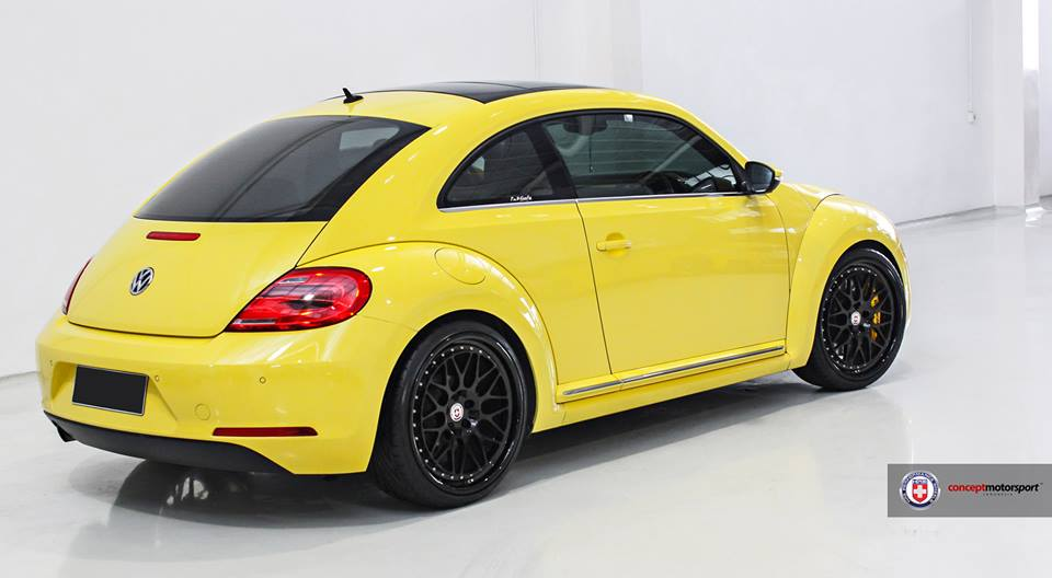 Vw Beetle 5c Yellow Hre Clic 300 2 Rims Tuning In On