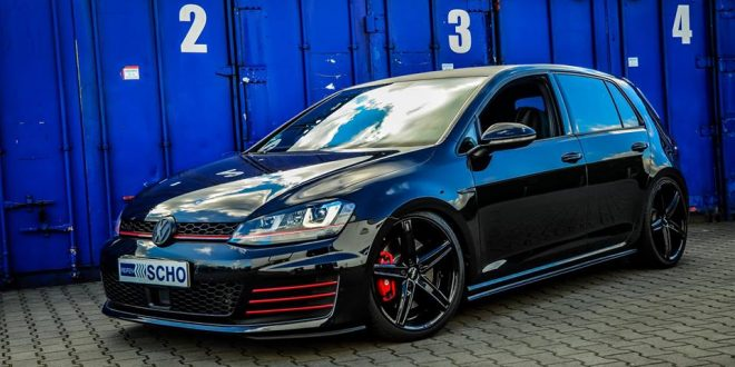 perfekt vw golf 7 gti auf oxigin 18 alu s kw v3 fahrwerk. Black Bedroom Furniture Sets. Home Design Ideas