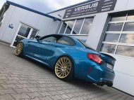 Versus Competition Felgen BMW M2 F87 Coupe Chiptuning 10 190x143 Mattgoldene Versus Competition Felgen am BMW M2 F87