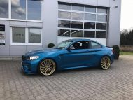 Versus Competition Felgen BMW M2 F87 Coupe Chiptuning 8 190x143 Mattgoldene Versus Competition Felgen am BMW M2 F87