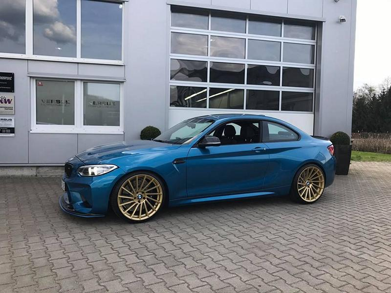 Versus Competition Felgen BMW M2 F87 Coupe Chiptuning 8 Mattgoldene Versus Competition Felgen am BMW M2 F87