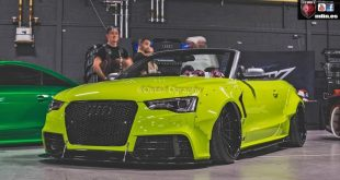 Acid Green Rockt Bunny Widebody Audi S5 Cabrio 4 310x165 Mega fett    Xenonz Uk Ltd. Widebody Audi S5 Cabrio