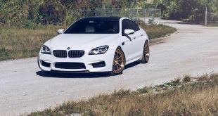 Alpine White BMW M6 Gran Coupe With Velos Designwerks Wheels 6 310x165 VELOS VLS 01 Felgen am Austin Yellow lackierten BMW M3