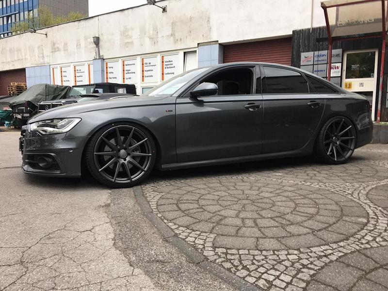 audi a6 4g with 21 inch advance wheels av 4 0 kw springs. Black Bedroom Furniture Sets. Home Design Ideas
