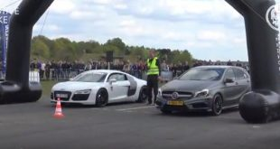 Audi R8 vs GT3 RS BRABUS A45 Model S RC F 310x165 Video: Audi R8 vs GT3 RS   BRABUS A45   Model S   RC F