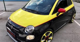 Fiat 500s Folierung Gelb Rot Schwarz Tuning 18 310x165 Folierung in Chrom Blau am Audi RS3 550 by BB Folien