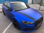 Folierung Chrom Blau Audi RS3 550 Tuning 1 155x116 Folierung in Chrom Blau am Audi RS3 550 by BB Folien