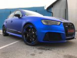 Folierung Chrom Blau Audi RS3 550 Tuning 10 155x116 Folierung in Chrom Blau am Audi RS3 550 by BB Folien