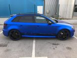 Folierung Chrom Blau Audi RS3 550 Tuning 12 155x116 Folierung in Chrom Blau am Audi RS3 550 by BB Folien