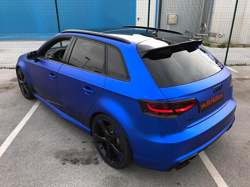 Folierung Chrom Blau Audi RS3 550 Tuning 13 Folierung in Chrom Blau am Audi RS3 550 by BB Folien