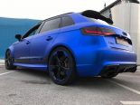 Folierung Chrom Blau Audi RS3 550 Tuning 17 155x116 Folierung in Chrom Blau am Audi RS3 550 by BB Folien
