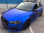 Folierung Chrom Blau Audi RS3 550 Tuning 22 155x116 Folierung in Chrom Blau am Audi RS3 550 by BB Folien