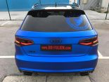 Folierung Chrom Blau Audi RS3 550 Tuning 24 155x116 Folierung in Chrom Blau am Audi RS3 550 by BB Folien