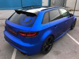 Folierung Chrom Blau Audi RS3 550 Tuning 25 155x116 Folierung in Chrom Blau am Audi RS3 550 by BB Folien