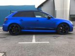Folierung Chrom Blau Audi RS3 550 Tuning 27 155x116 Folierung in Chrom Blau am Audi RS3 550 by BB Folien
