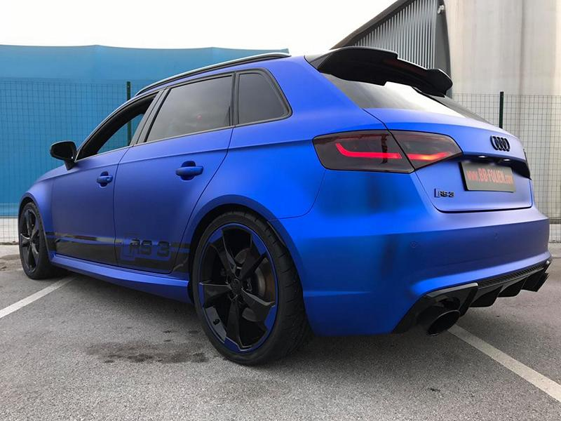 Folierung Chrom Blau Audi RS3 550 Tuning 4 Folierung in Chrom Blau am Audi RS3 550 by BB Folien