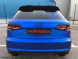 Folierung Chrom Blau Audi RS3 550 Tuning 6 155x116 Folierung in Chrom Blau am Audi RS3 550 by BB Folien