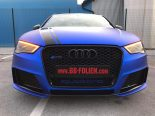 Folierung Chrom Blau Audi RS3 550 Tuning 9 155x116 Folierung in Chrom Blau am Audi RS3 550 by BB Folien