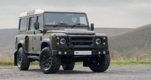 LAND ROVER DEFENDER 110 STATION WAGON CHELSEA WIDE TRACK Tuning 2 310x165 Mega   Kahn 6x6 Civilian Carrier Defender Umbau in Genf