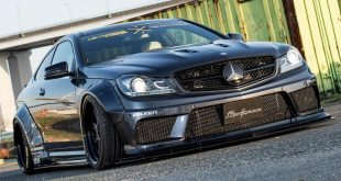 Liberty Walk Widebody Mercedes C63 AMG W204 3DSM Tuning 2 310x165 Fertig   Das ist der Liberty Walk Ford Mustang Widebody